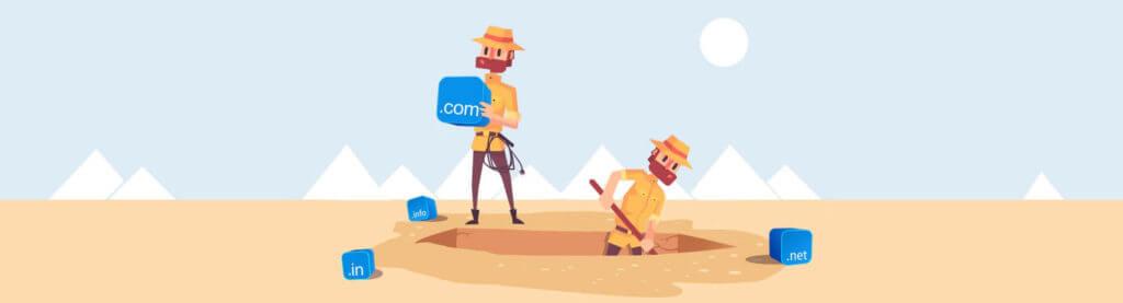 Поиск истории домена